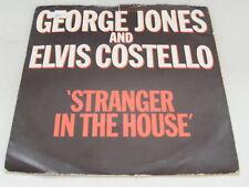 """GEORGE JONES & ELVIS COSTELLO Stranger In The House Ex '81 P/S 7"""""""