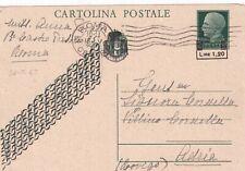16.5.45 LUOGOTENENZA intero postale da ROMA x ADRIA