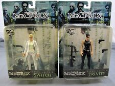 The Matrix Film Trinity & Switch Set of 2 Action Figures 1999 Warner Bros New