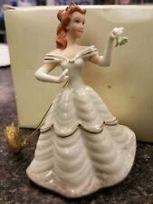 LENOX Christmas time Belle Disney Beauty & the Beast ORNAMENT Cream Gold