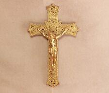 Crucifix Gallo Co. NY metal cross Vintage Jesus Christ Religious
