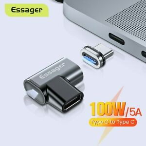 Essager Magnetic Elbow USB Type C Adapter 100W 5A PD USB 3.1 10Gbps Charge Data