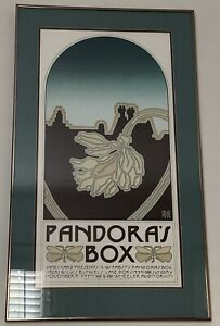 Original Vintage David Lance Goines 1975 Poster Pandora's Box Wheeler Auditorium