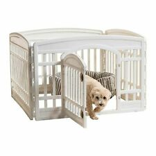 Exercise Pet Playpen, 4 Panels With Door, 24 Inch, Cats, Dogs, Pet Gate, Fences