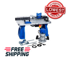 Kobalt Fixed Corded Router w/ Table 12amp Power Tools Grey/Blue Aluminum Base