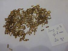 lot 22 gr de perle tube passementerie ancienne en verre broderie doré diam 2mm