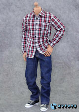 ZY Toys 1/6 Set of Red Checker Shirt+Jeans fits all 1/6 regular action figures