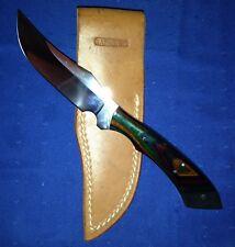 Tom Barminski Hunting Fixed Blade Knife Custom Made with Sheath - Made In USA
