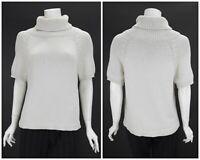 Womens Weekend Max Mara Knit Sweater Jumper Grey Roll Neck Viscose Nylon Size L