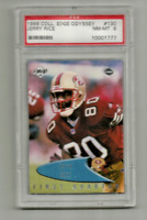 JERRY RICE (San Francisco 49ers) 1999 COLLECTOR'S EDGE ODYSSEY #130 PSA 8 NM-MT
