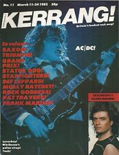 KERRANG! #11 MAR 1982: AC/DC Saxon GLENN HUGHES Marillion AEROSMITH Starfighters