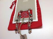 """NWT Uno de 50 Silvertone/Beaded Earrings 3"""" $109 """"Rocio Drop Earrings"""""""