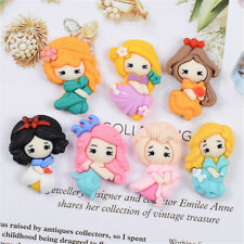 Pack of (x10) Mixed Resin Princesses Flatback Craft Embellishments Decors 2-3cm