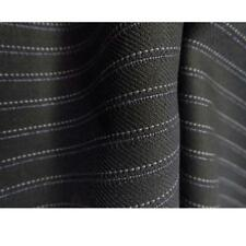 Black Wool with Violet and White Pinstripe - Super 120s Luxury!