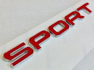 RED RANGE ROVER SPORT Boot Badge Letter Genuine OEM, SUPERCHARGED AUTOBIOGRAPHY
