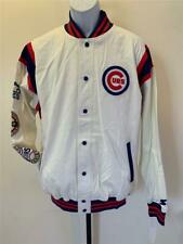 Neu Chicago Cubs Herren Größe L Groß Weiß Starter Knöpfe Mantel