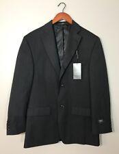 Haggar NEW Suit Jacket Blazer Coat Navy Blue Pinstripe Two Button Work Sz 38 R