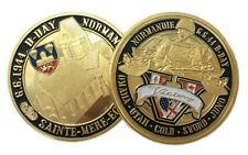 D-Day Normandie War | Victory | Sainte Mere Eglise | Gold Plated Coin
