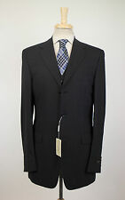 NWT CANALI Black Striped Wool 3 Button 3 Piece Suit Size 52/42 XL Drop 7 $2250