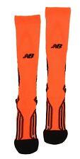 New Balance Running Compression Sock Neon Orange Unisex Size L 61516