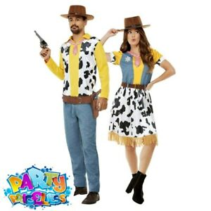 Adult Western Cowboy Costume Woody Jessie World Book Day Fancy Dress Outfit