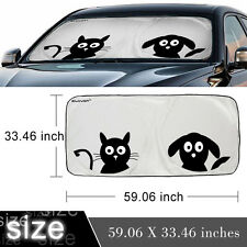 Folding Jumbo Front Car Window Sunshade Auto Sun Visor Windshield Block Cover