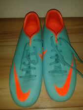 Boys / Mens Football Boots - Nike Mercurial - Neo Green & Orange - 4 UK 4.5Y US