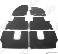 Ford Galaxy 7 Seater 2014 to 2015 Tailored Black Car Floor Mats Carpets 6pc Set