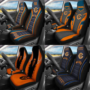 Set of Two Chicago Bears Car Front Seat Covers Universal Fit Cushion Protectors
