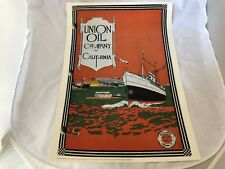 UNION OIL COMPANY MARINE OIL POSTER VINTAGE BULLETIN COVER 1921 24 X 17