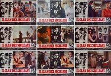 LE CLAN DES SICILIENS SICILIAN CLAN Italian fotobusta posters x9 VENTURA DELON