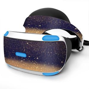 Skin Wrap for Sony Playstation PSVR Headset gold dust lens flare glitter