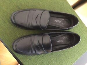 donna carolina Gr. 41 Pennyloafer Loafer Slipper Mokassins Leder schwarz