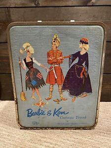 Vtg 1964 Mattel Barbie & Ken Costume Trunk for Teen Age Dolls - Amazing Shape!