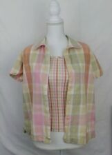 Lemon Grass 2 Piece Womens Top and Tank Size Small