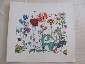 Fleur Cowles Lithgraph-Similar to Denby Jardin de Fleurs Pattern-Signed/Numbered
