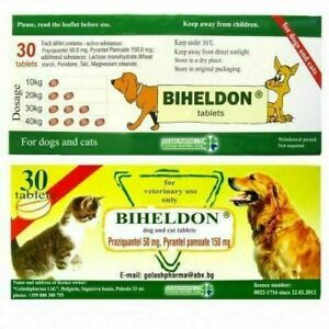 30 Tabs Dog Cat Puppy Wormer Broad Spectrum Dewormer Woming
