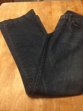 Anthropologie Citizens Of Humanity Blue Jeans Low Waist Wide Leg Stretch Size 27