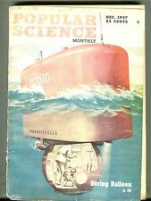 Popular Science Magazine December 1947 Diving Balloon 063017nonjhe