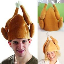 Thanksgiving Day Funny Plush Roasted Turkey Hat Party Festival Costume New