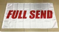 white and Red Full Send Nelk Boys Flag 3 X 5 FT.