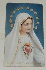 Image Pieuse : CUORE IMMACOLATO di MARIA - Consécration de la Famille