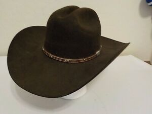 Men's RESISTOL Western Hat, Dark Brown, Sz 7 1/8 Long Oval, George Strait , 6X