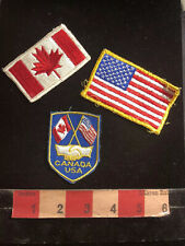 3 Patch Lot - USA & Canada Patches 90J8