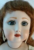 """Vintage Bisque Porcelain Jullien 9 Repro 20"""" doll and wig Ready-to-Dress"""
