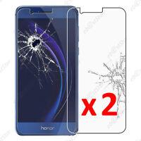 x2 Film Protection écran Verre Trempé Vitre Anti Casse Huawei Honor 8