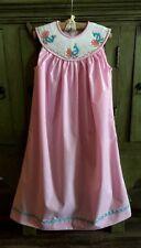 Remember Nguyen Baby Girl's Pink Smocked Peacock Yoke Dress Size 6 Months