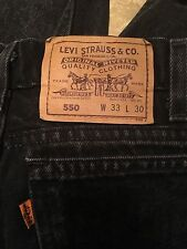 LEVI'S vintage mens jean 550 relaxed fit USA Made black size 33X30 Orange Tab