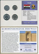 Irak / IRAQ - KMS 4 Münzen 1981-1990 - UNC Satz mit BTN Zertifikat