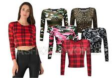 Animal Print Regular Cropped Casual Tops & Shirts for Women
